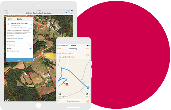 Tablet and smart phone with mapping software