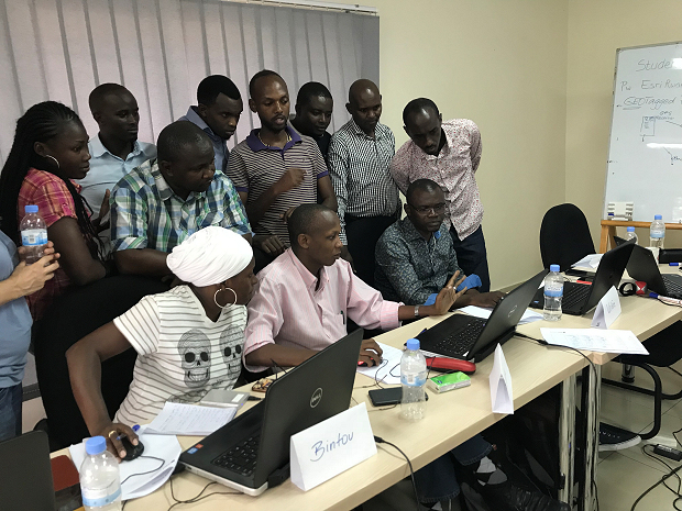 ArcGIS Trainings for the Central African Region: Participants in October 2017
